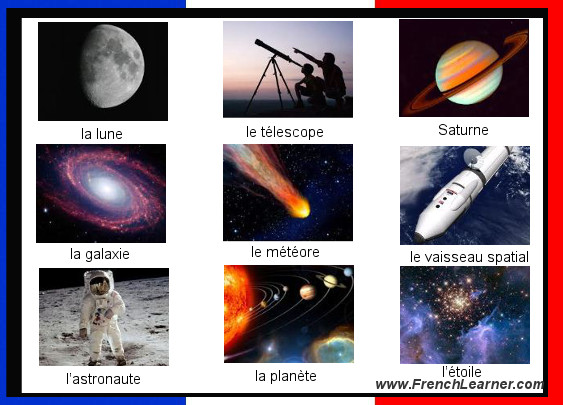 French Astronomy Vocabulary