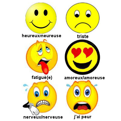 French Feelings Vocabulary