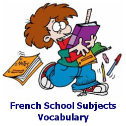 French School Subjects Vocabulary