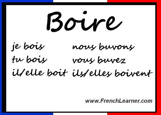 Boire Conjugation