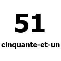 cinquante-et-un 51