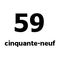 cinquante-neuf 59