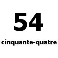 cinquante-quatre