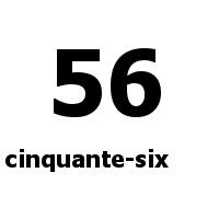 cinquante-six 56