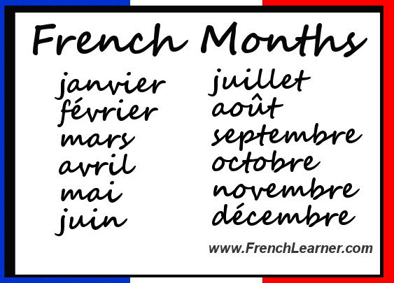 How to say dates in french in Perth