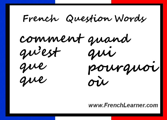 French Question Words