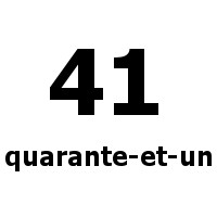 quarante-et-un 41