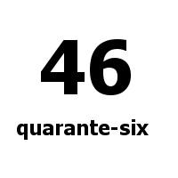 quarante-six 46