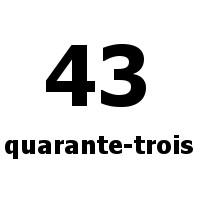 quarante-trois 43