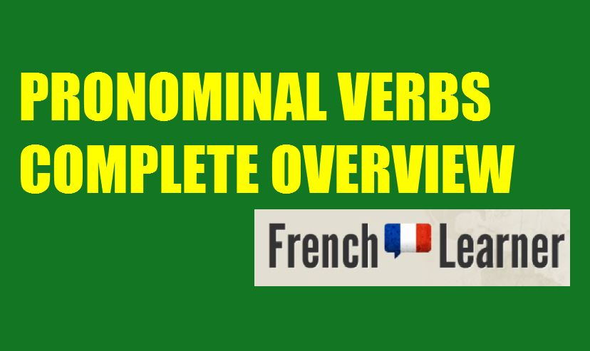 French pronominal verbs