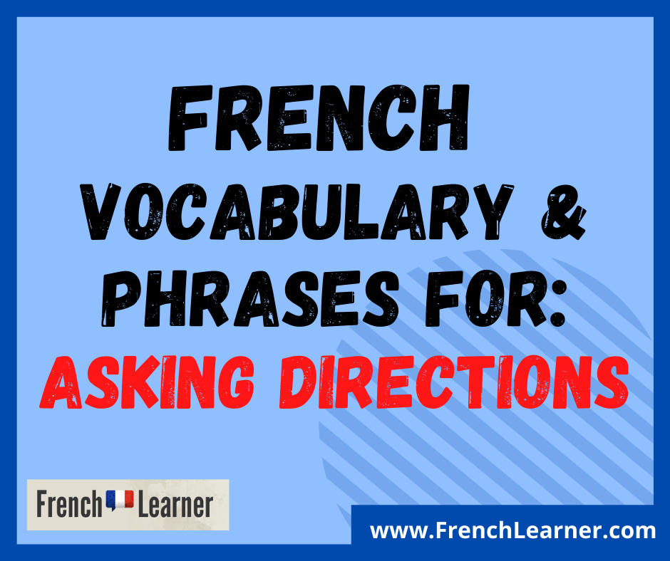 asking directions in French