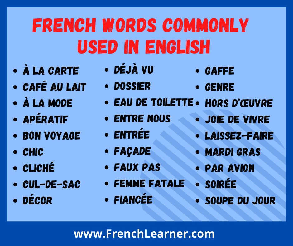 French words used in English