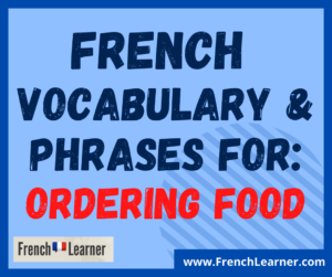 how to order food in French
