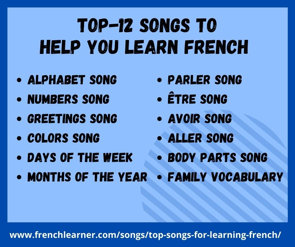top songs to learn French