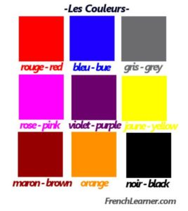 French color names
